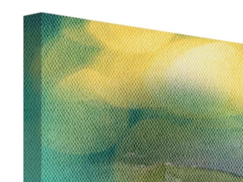 Leinwandbild 3-teilig Lotus-Spiegelung