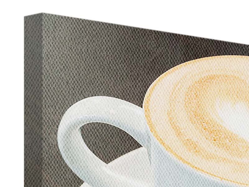 Leinwandbild 3-teilig Lieblingskaffee