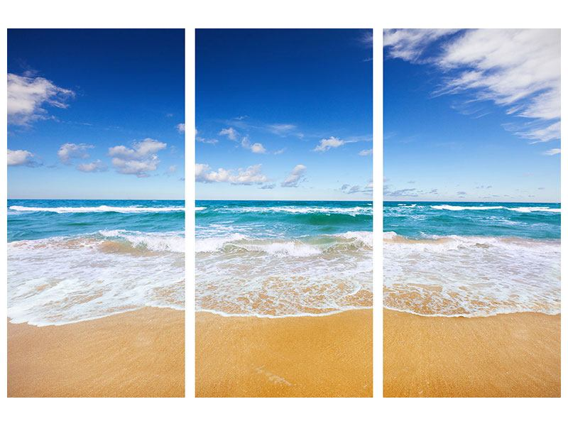 Leinwandbild 3-teilig Die Gezeiten und das Meer