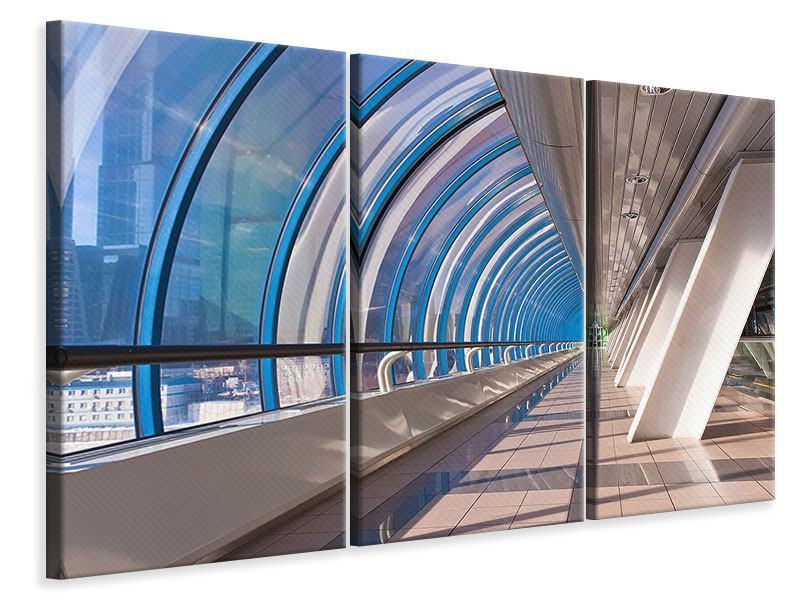 Leinwandbild 3-teilig Hypermoderne Brücke