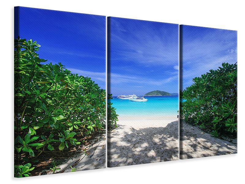 Leinwandbild 3-teilig Similan-Inseln
