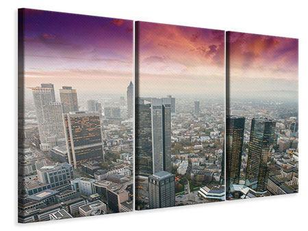 Leinwandbild 3-teilig Skyline Penthouse in New York