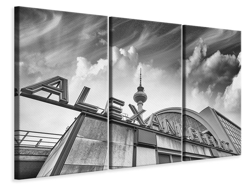 Leinwandbild 3-teilig Alexanderplatz