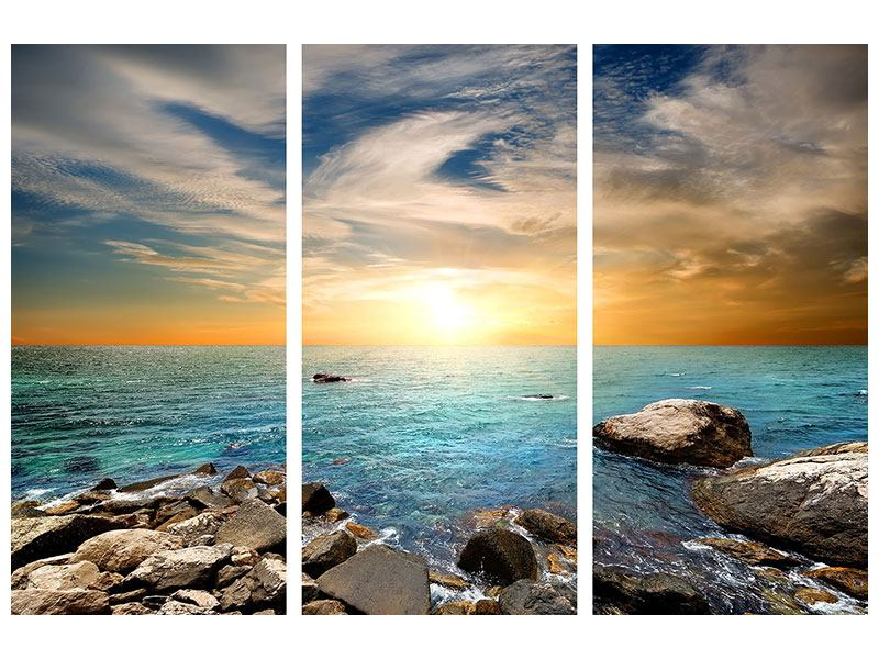 Leinwandbild 3-teilig Meerwasser