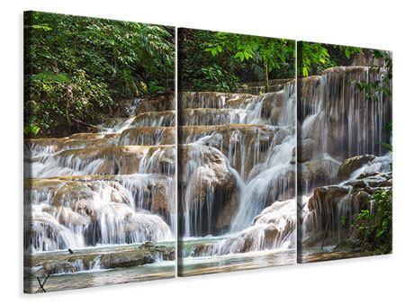 Leinwandbild 3-teilig Mexikanischer Wasserfall