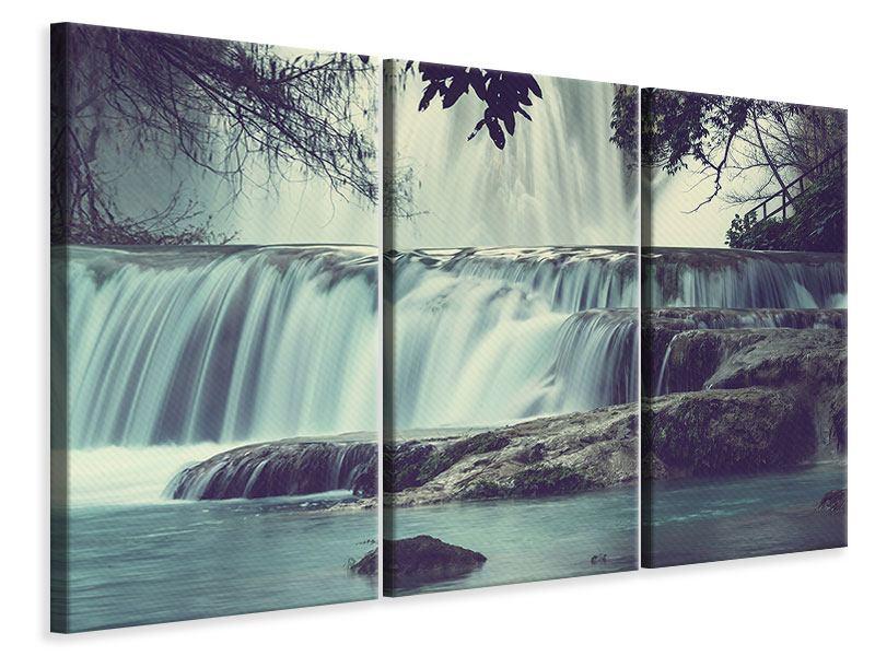 Leinwandbild 3-teilig Wasserfall Mexiko
