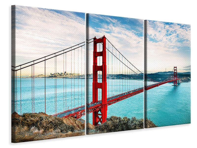 Leinwandbild 3-teilig Golden Gate Bridge