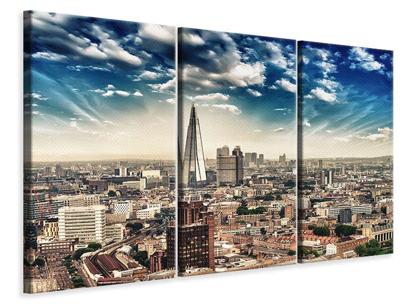 Leinwandbild 3-teilig Skyline Über den Dächern von London
