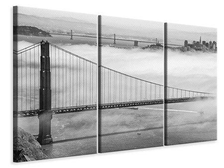 Leinwandbild 3-teilig Golden Gate Brücke