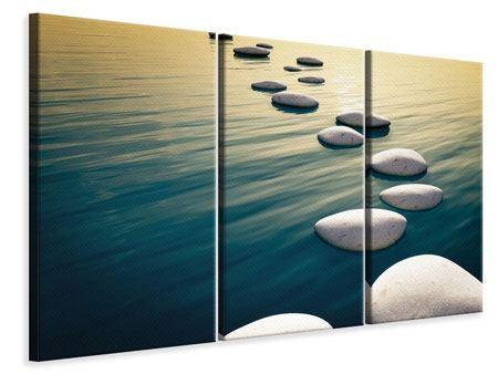 Leinwandbild 3-teilig Der Weg ist das Ziel