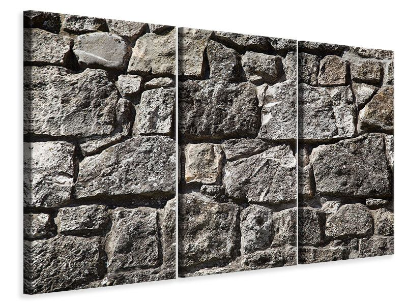 Leinwandbild 3-teilig Grosses Mauerwerk