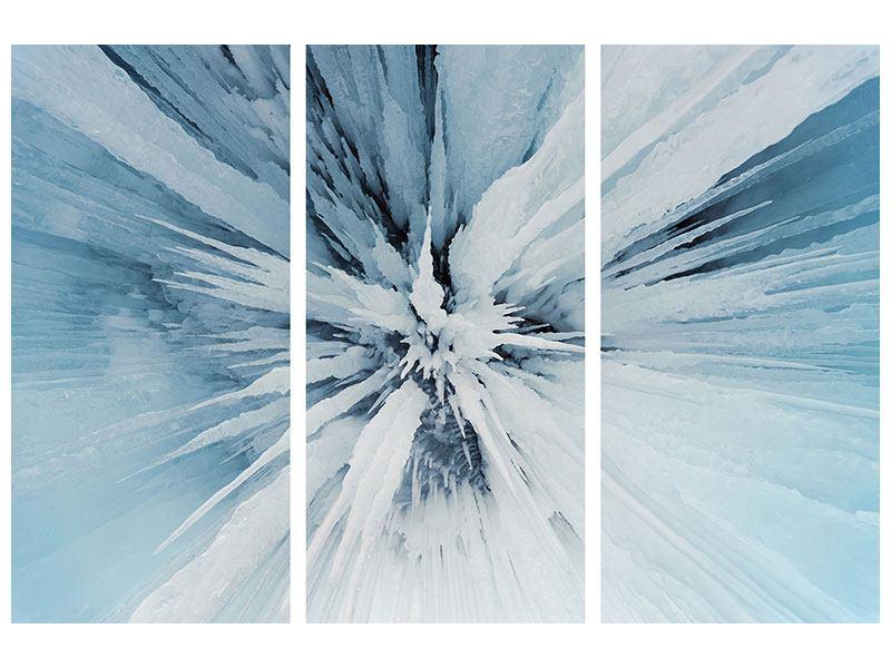 Leinwandbild 3-teilig Eiskunst