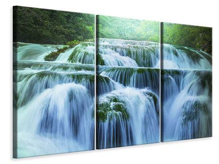Leinwandbild 3-teilig Gigantischer Wasserfall