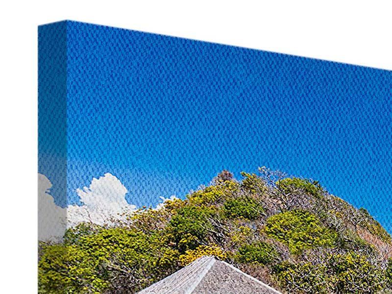 Leinwandbild 3-teilig Das Haus am Strand