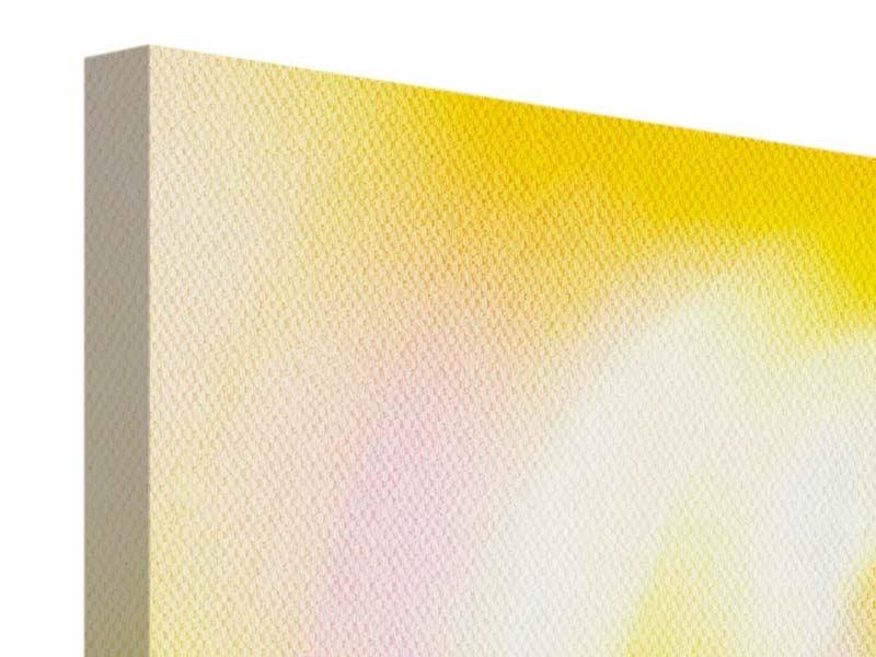 Leinwandbild 3-teilig Abstrakte Farbkreise