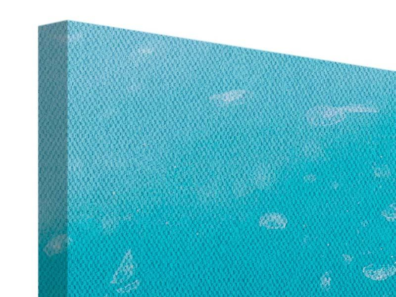 Panorama Leinwandbild 3-teilig Viele Quallen