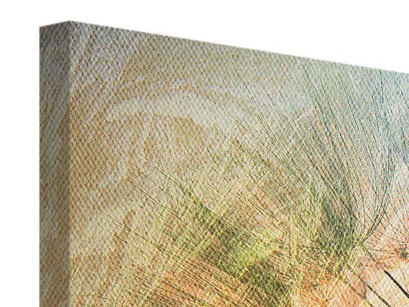 Panorama Leinwandbild 3-teilig XXL Pusteblume