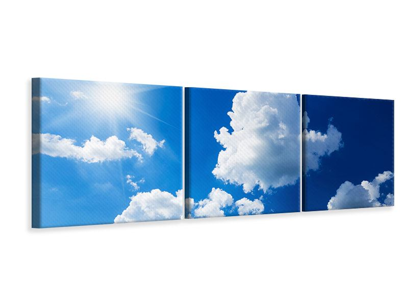 Panorama Leinwandbild 3-teilig Himmelblau
