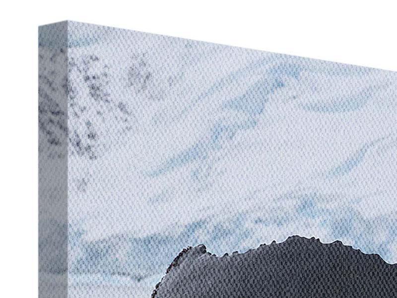 Panorama Leinwandbild 3-teilig Der Buckelwal