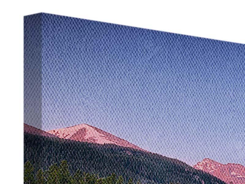 Panorama Leinwandbild 3-teilig Sprague Lake-Rocky Mountains
