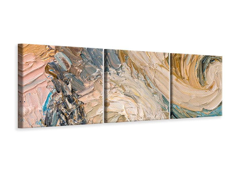 Panorama Leinwandbild 3-teilig Ölgemälde