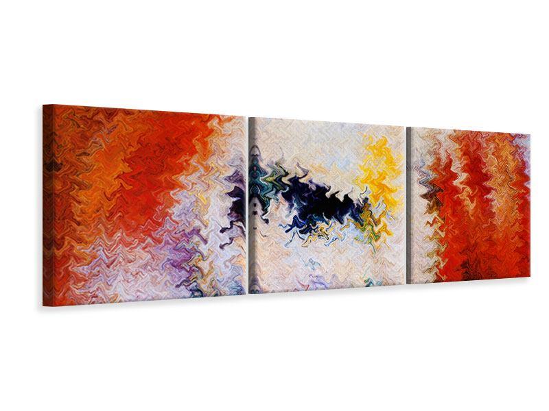 Panorama Leinwandbild 3-teilig Wandmalerei