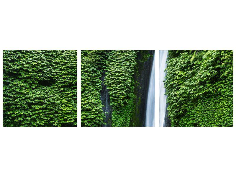 Panorama Leinwandbild 3-teilig Lebensquelle