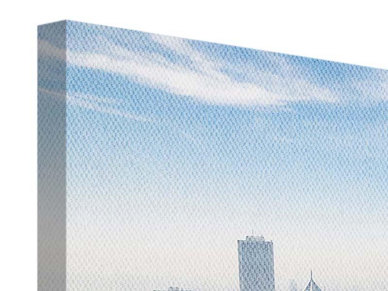 Panorama Leinwandbild 3-teilig Wolkenkratzer Chicago