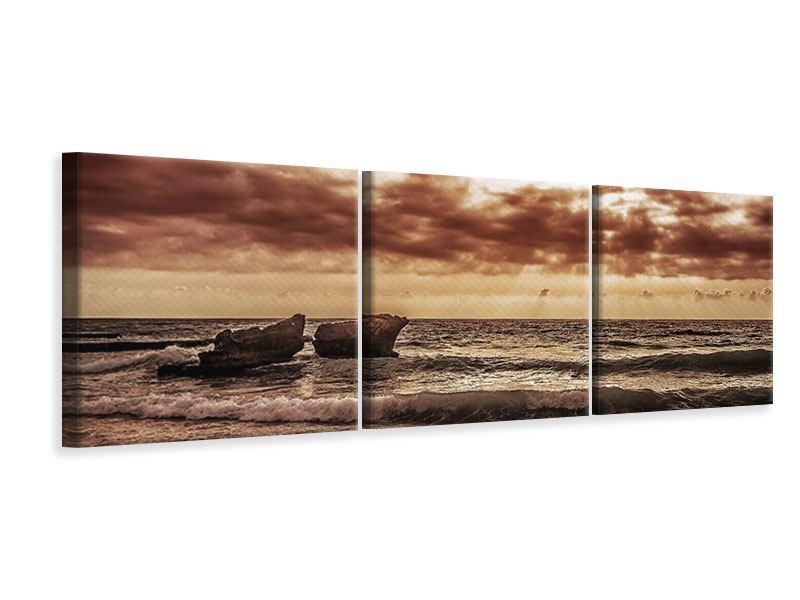 Panorama Leinwandbild 3-teilig Meeresrauschen