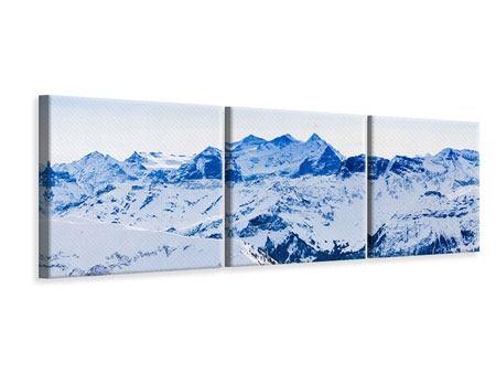 Panorama Leinwandbild 3-teilig Die Schweizer Alpen