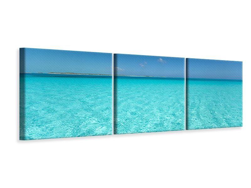 Panorama Leinwandbild 3-teilig Das Meer und Jules Verne