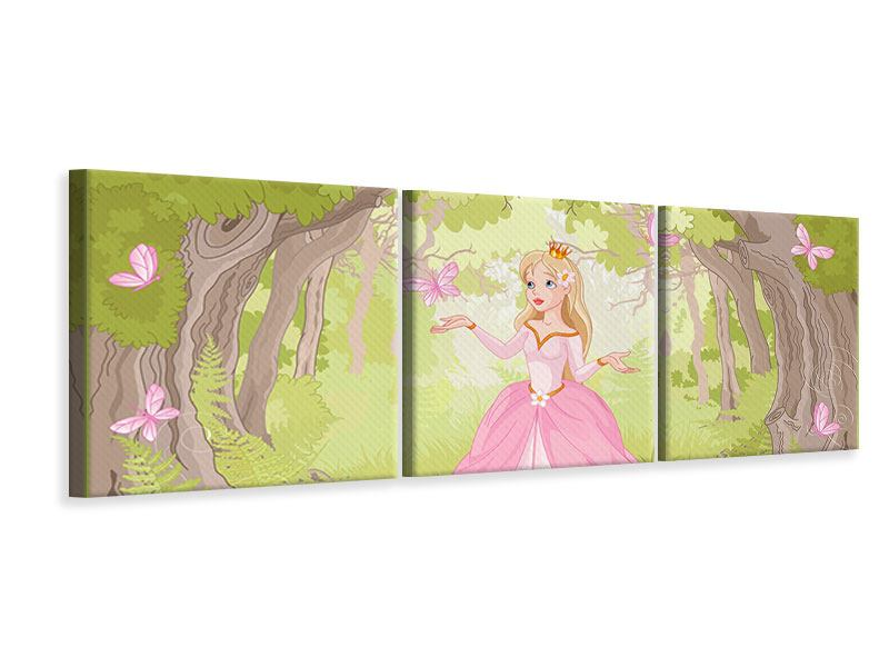 Panorama Leinwandbild 3-teilig Princess