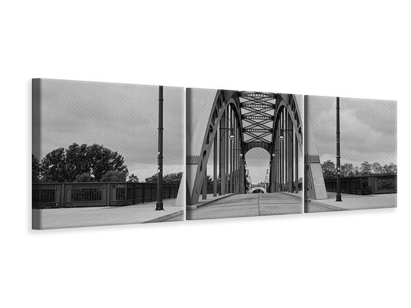 Panorama Leinwandbild 3-teilig Poetische Brücke