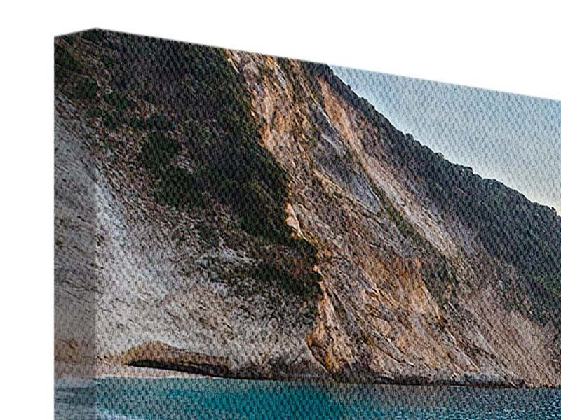 Panorama Leinwandbild 3-teilig Felsen