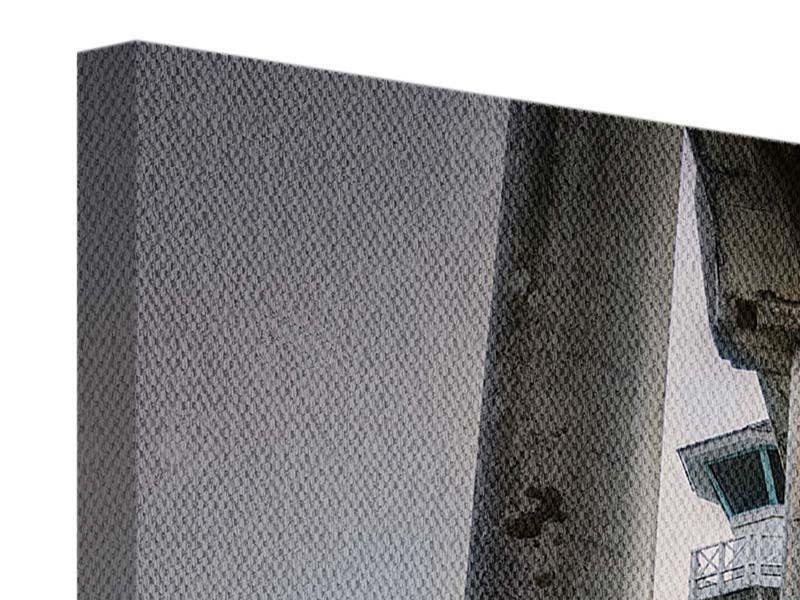 Panorama Leinwandbild 3-teilig Brückenpfeiler