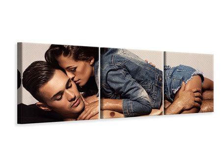 Panorama Leinwandbild 3-teilig Love Is In The Air