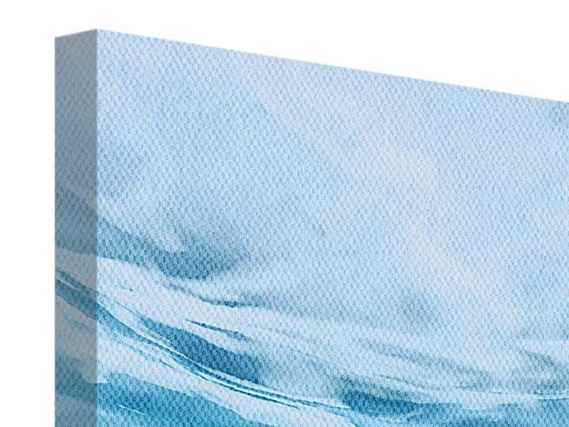 Panorama Leinwandbild 3-teilig Lichtspiegelungen unter Wasser
