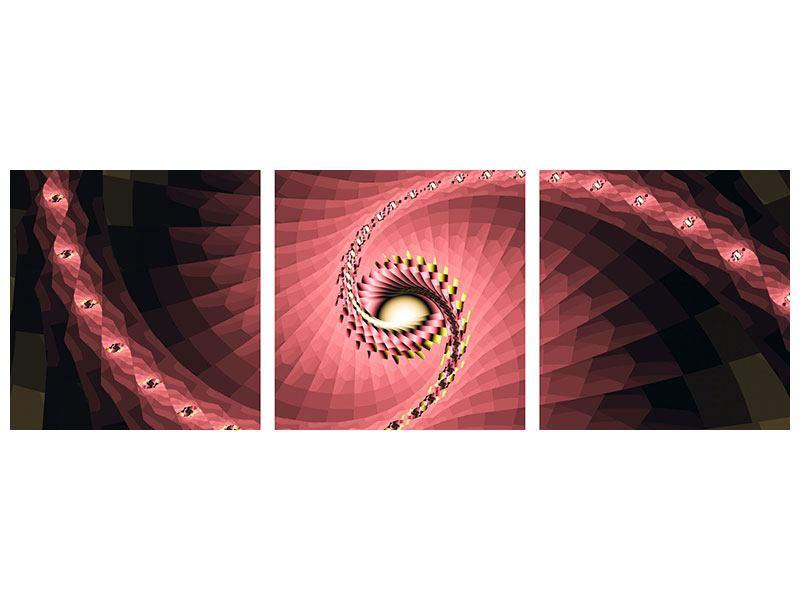 Panorama Leinwandbild 3-teilig Abstrakte Windungen