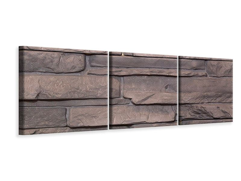 Panorama Leinwandbild 3-teilig Luxusmauer