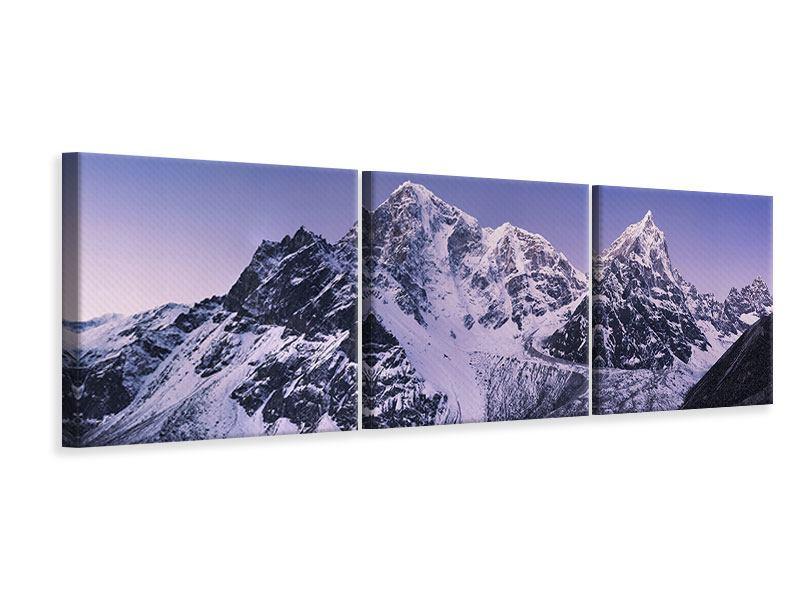 Panorama Leinwandbild 3-teilig Taboche und Cholatse