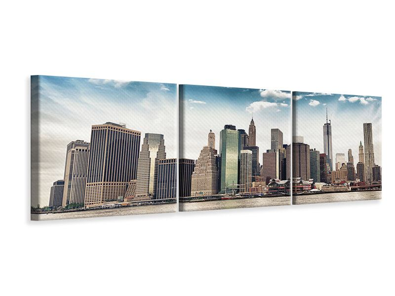 Panorama Leinwandbild 3-teilig NYC From The Other Side