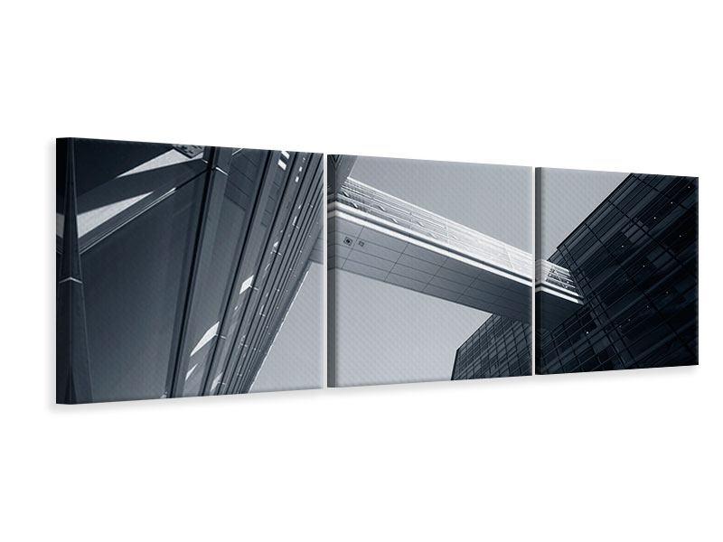 Panorama Leinwandbild 3-teilig Der schwarze Diamant Kopenhagens
