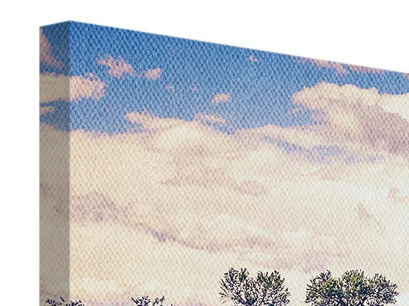 Panorama Leinwandbild 3-teilig Das Lavendelfeld