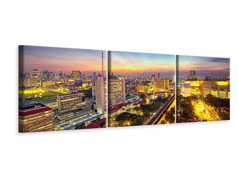 Panorama Leinwandbild 3-teilig Bangkok