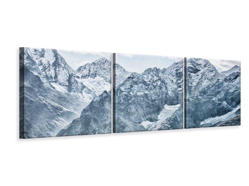 Panorama Leinwandbild 3-teilig Gigantische Berggipfel