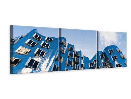 Panorama Leinwandbild 3-teilig Neuer Zollhof