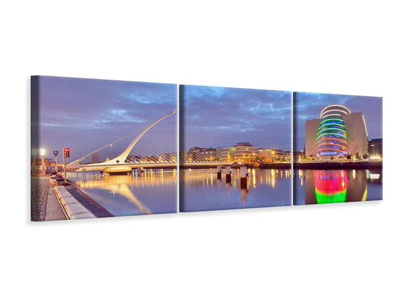 Panorama Leinwandbild 3-teilig Samuel Beckett Bridge