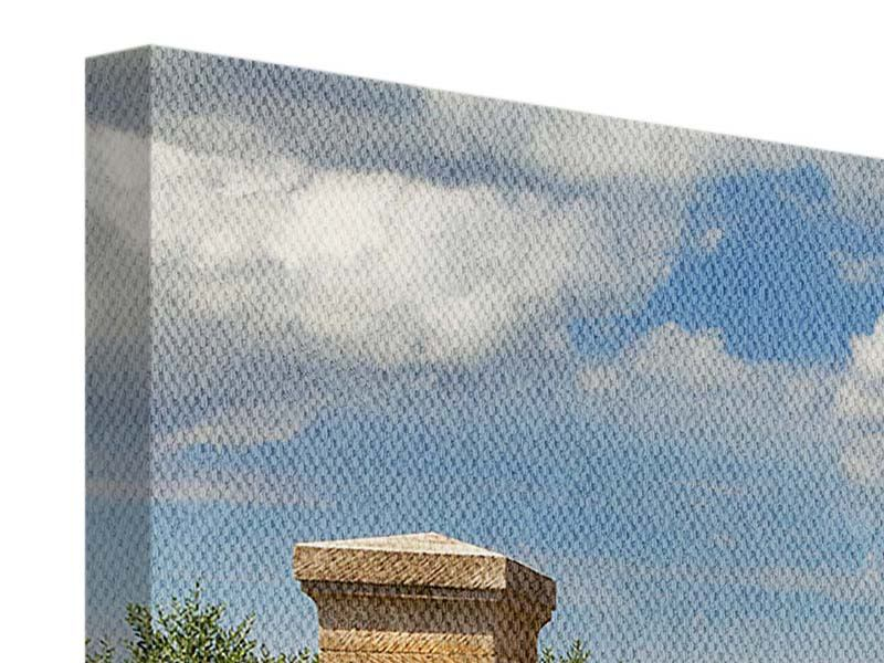 Panorama Leinwandbild 3-teilig Lavendel-Garten