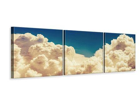 Panorama Leinwandbild 3-teilig Himmelswolken