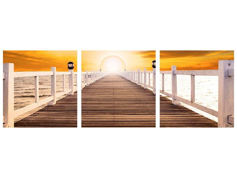 Panorama Leinwandbild 3-teilig Die Brücke Ins Glück